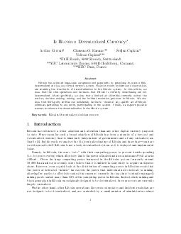 Is Bitcoin a Decentralized Currency Arthur Gervais Ghassan O PDF document - DocSlides