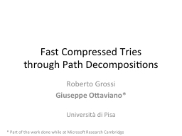 Fast Compressed Tries