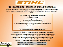 Let our STIHL trained and qualified