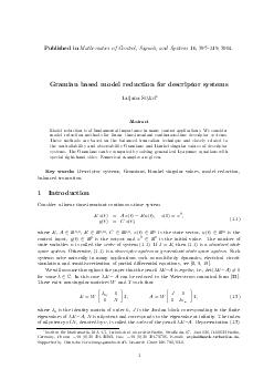 Published in Mathematics of Contr ol Signals and Systems