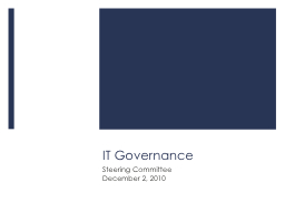 IT Governance PowerPoint PPT Presentation