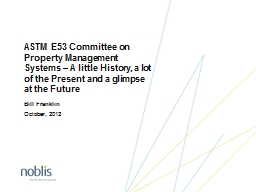 ASTM E53 Committee on Property Management Systems – A lit