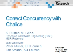 Correct Concurrency with Chalice PowerPoint PPT Presentation