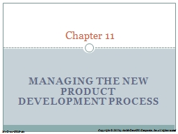 Managing the New Product Development Process