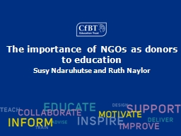 The importance of NGOs