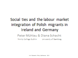 Social ties and the labour market integration of Polish mig