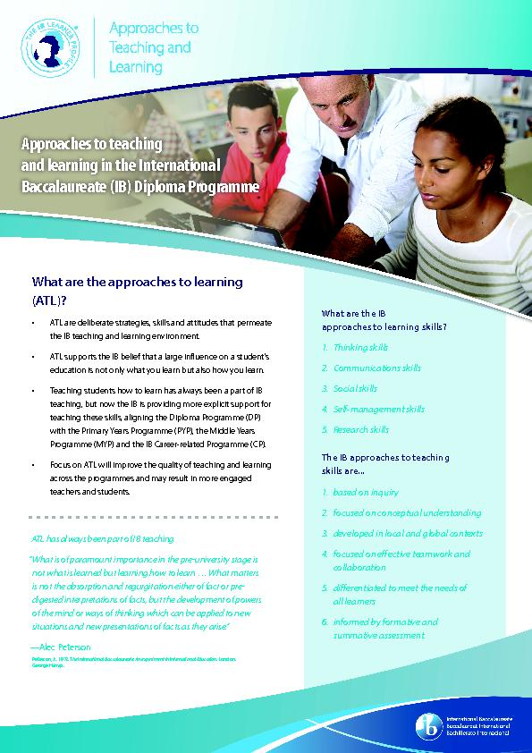 Approaches to teaching and learning in the International Baccalaureate