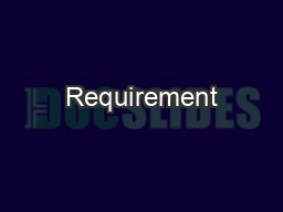 Requirement PDF document - DocSlides