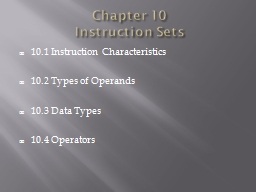 Chapter 10 PowerPoint PPT Presentation