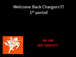 Welcome Back Chargers!!!