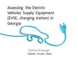 Assessing the Electric Vehicles Supply Equipment (EVSE, cha
