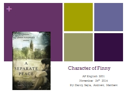 Character of Finny