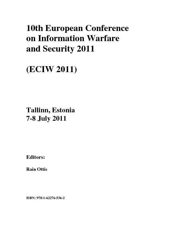 10th European Conference  on Information Warfare  and Security 2011  (