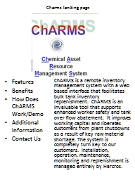 Charms landing page