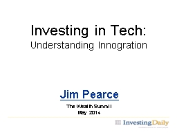 Investing in Tech: