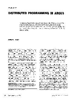 DISTRIBUTED PROGRAMMING IN ARGU!S