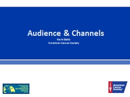 Audience & Channels