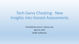 Tech-Savvy Cheating:  New Insights into Honest Assessments