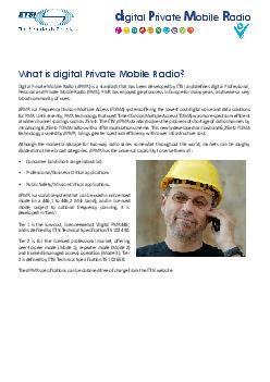 About ETSI dPMR is part of ETSI  one of the worlds leading stan dards development organizations for Information and Communication Technologies ICT PDF document - DocSlides