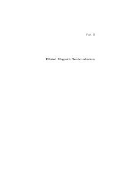 Part II Diluted Magnetic Semiconductors  FirstPrinciples Study of the Magnetism of Diluted Magnetic Semiconductors L