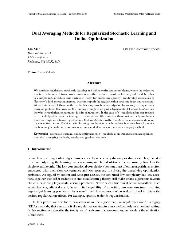 journal of machine learning research