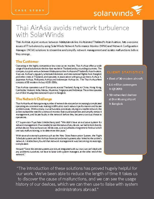 Thai AirAsia avoids network turbulence