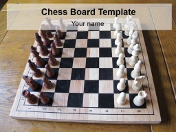 Chess Board Template