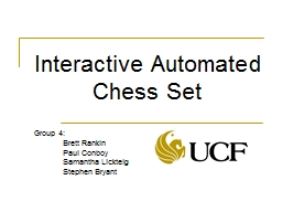 Interactive Automated Chess Set PowerPoint PPT Presentation