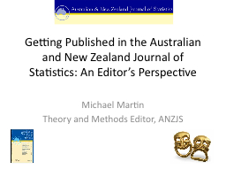 Getting Published in the Australian and New Zealand Journal