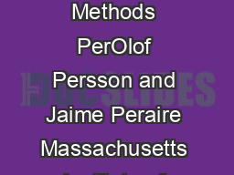 SubCell Shock Capturing for Discontinuous Galerkin Methods PerOlof Persson and Jaime Peraire Massachusetts Institute of Technology Cambridge MA  U PDF document - DocSlides