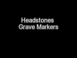 Headstones Grave Markers