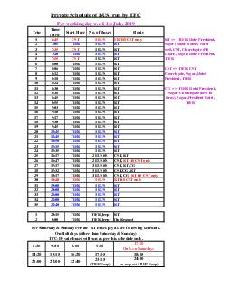 Private Schedule of BUS This schedule is followed only on working day Time Start PDF document - DocSlides