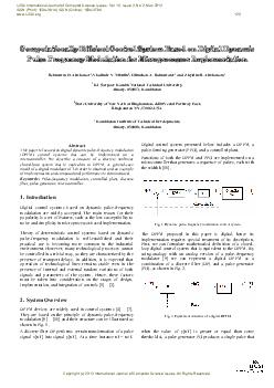 Computationally efficient control system based on digital dynamic pulse frequency modulation for microprocessor implementation PDF document - DocSlides