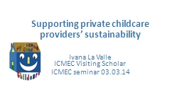 Supporting private childcare