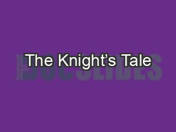 The Knight�s Tale