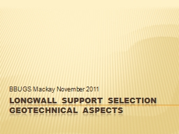 Longwall Support Selection
