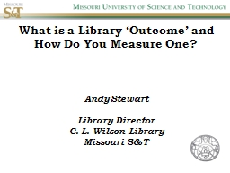 What is a Library 'Outcome' and How Do You Measure One?
