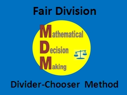Fair Division PowerPoint PPT Presentation