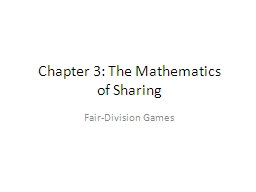 Chapter 3: The Mathematics