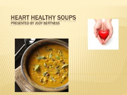 Heart Healthy Soups