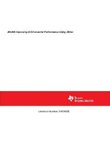 AN Improving AD Converter Performance Using Dither Literature Number SNOA  TLH Improving AD Converter Performance Using Dither AN National Semiconductor Application Note  Leon Melkonian February  Imp