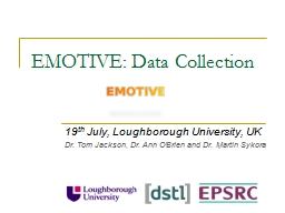 EMOTIVE: Data Collection