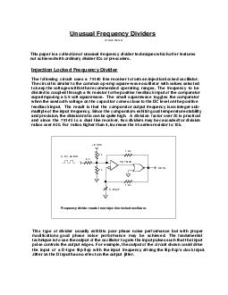 k  k    pF  k  k  k    V  MHz  MHz   VDC The following circuit uses a  line receiver to form an injection locked oscillator PDF document - DocSlides