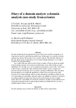 Diary of a domain analyst a domain analysis case study from avionics T