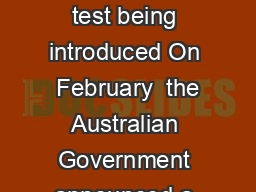 Frequently Asked Questions  New Points Test Why is a new points test being introduced On  February  the Australian Government announced a series of reforms to the skilled migration program including PowerPoint PPT Presentation