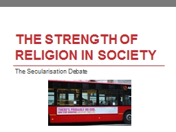 The Strength of Religion in society