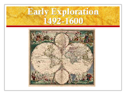 Early Exploration PowerPoint PPT Presentation