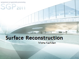 Surface Reconstruction