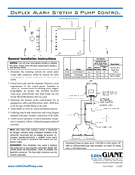 Lift pump chambers Sump pump basins Holding tanks Sewage and water removal systems Controls the pump and warns of high liquid levels Easy to install NEMA X ultraviolet stabilized thermoplastic enclos PowerPoint PPT Presentation