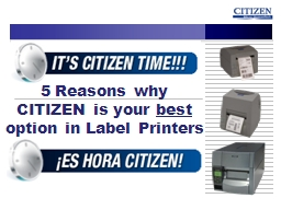 5 Reasons why CITIZEN is